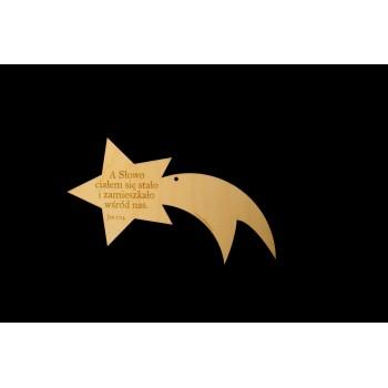 Gwiazda drewniana duża - werset