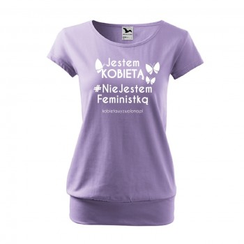 """koszulka """"Nie jestem feministką"""" damska CITY"""