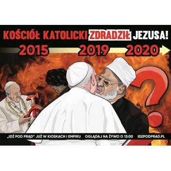 plakat Kościół katolicki zdradził Jezusa
