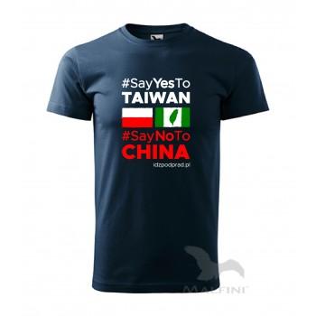 """koszulka """"Say yes to Taiwan"""" męska"""