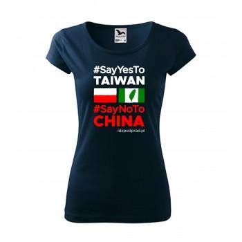 """koszulka """"Say yes to Taiwan"""" damska"""