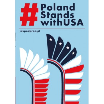 "Ulotka ""Poland Stands With USA"""