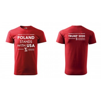 "koszulka ""Poland Stands With USA"" męska"