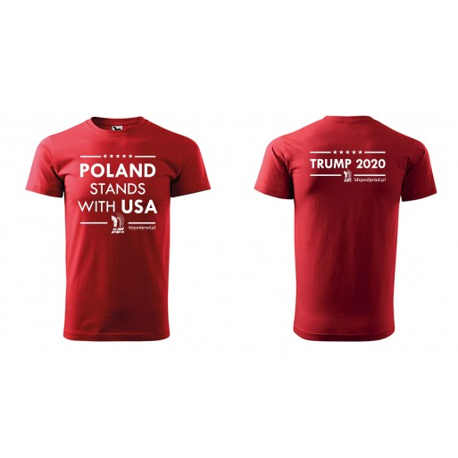 "koszulka ""Poland Stands With USA"" męska"