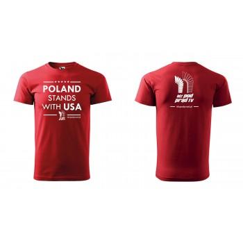 """koszulka """"Poland Stands With USA IPP TV"""" męska"""
