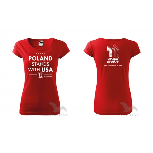 "koszulka ""Poland Stands With USA IPP TV"" damska"