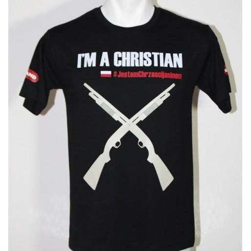 """koszulka """"Jestem chrześcijaninem"""" męska"""