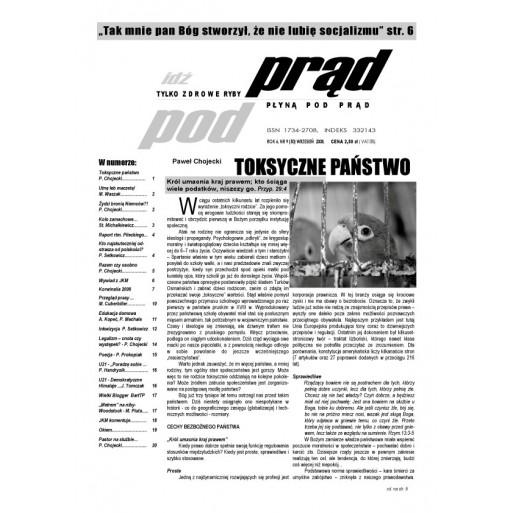 """gazeta """"Idź Pod Prąd"""" 09/2008"""