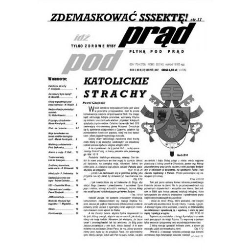 """gazeta """"Idź Pod Prąd"""" 08/2007"""