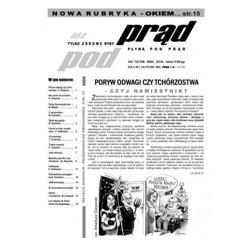 """gazeta """"Idź Pod Prąd"""" 01/2006"""
