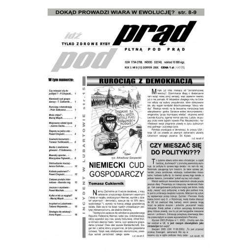 """gazeta """"Idź Pod Prąd"""" 08/2005"""