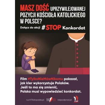 plakat Stop Konkordat