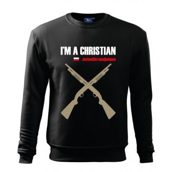 "bluza męska ""jestem chrześcijaninem"" - wzór 3"